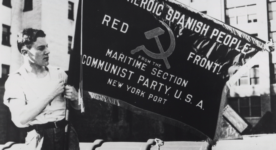 Archival images of a march by the American Communist Party from the 1983 documentary Seeing Red by Julia Reichert and Jim Klein
