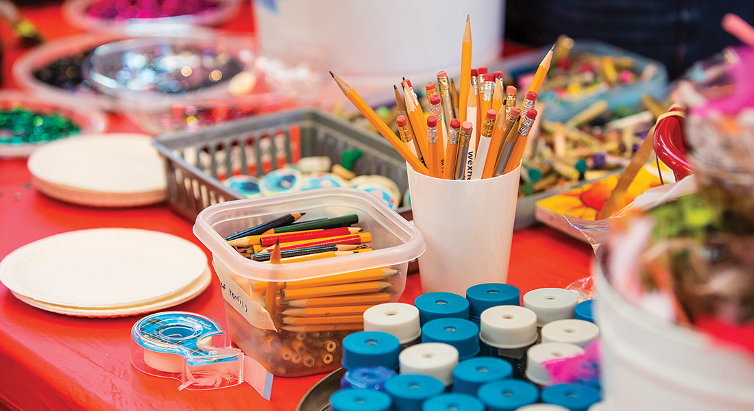 Assorted craft supplies