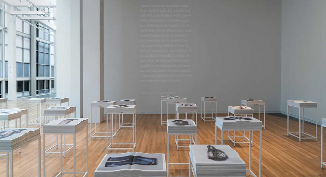 Installation view of Ann Hamilton at the Wexner Center for the Arts