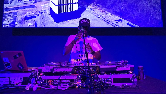 Columbus, Ohio DJ Krate Digga presents a set at the DEMO event at the Wexner Center for the Arts
