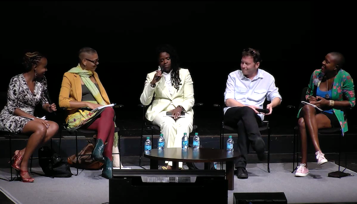 Panelists for the 2015 Wexner Center Director's Dialogue on Art & Social Change