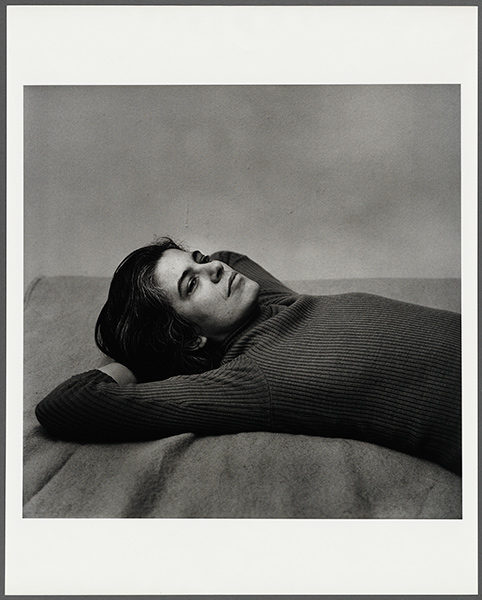 Susan Sontag, 1975 black and white photograph portrait by Peter Hujar